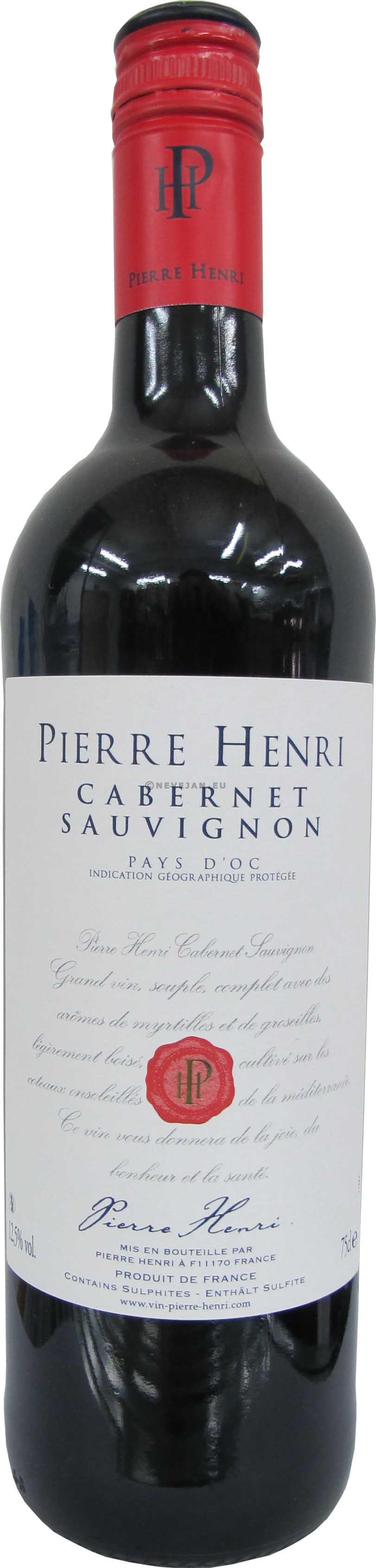 Pierre Henri Cabernet Sauvignon Pays d'Oc