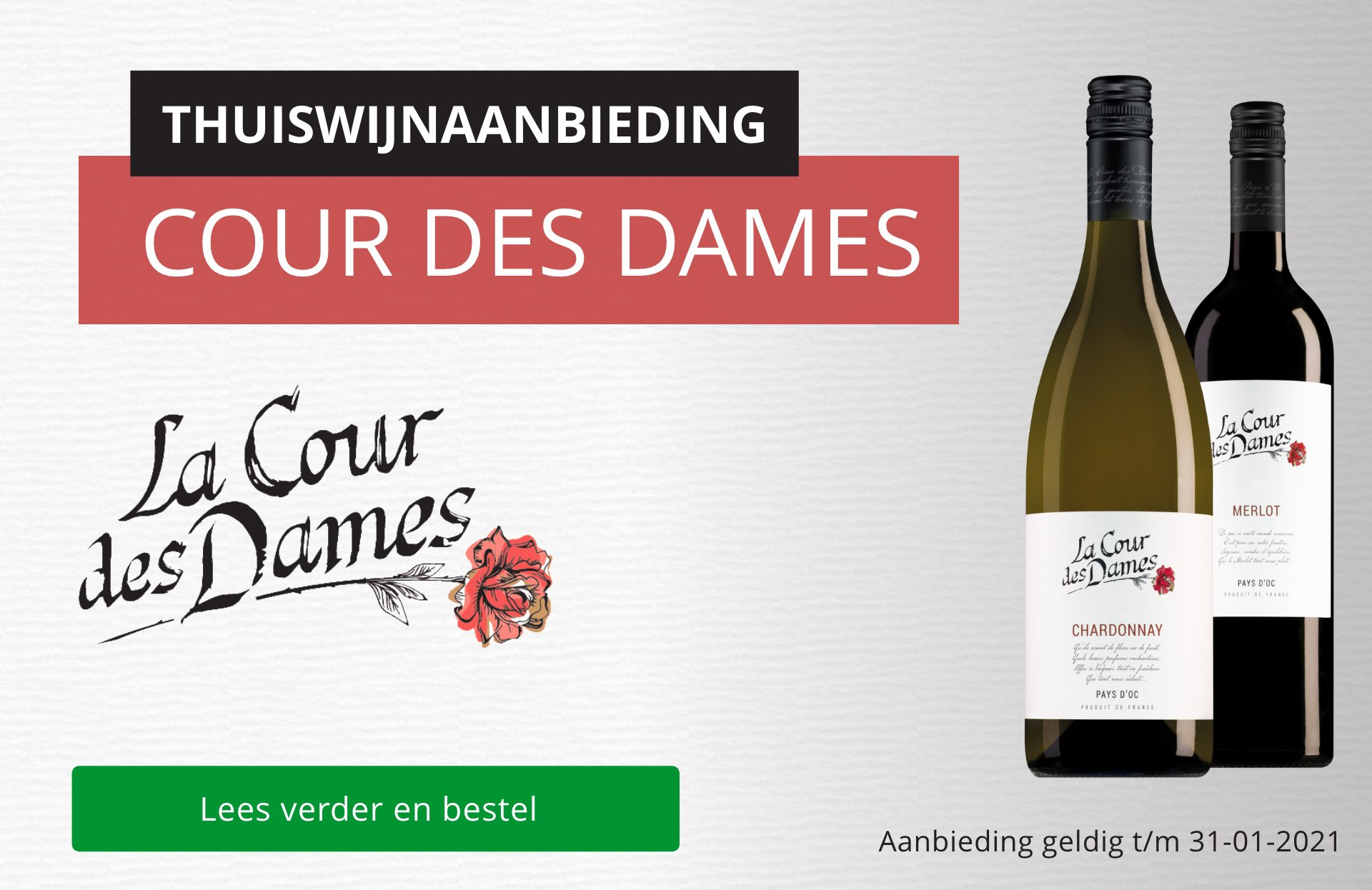 Thuiswijnaanbieding Cour des Dames