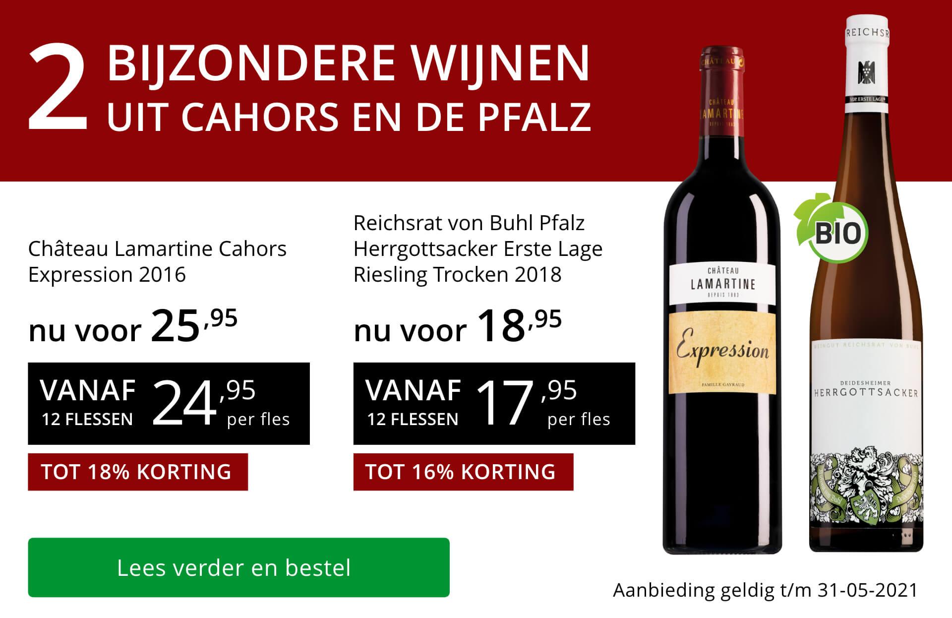 Twee bijzondere wijnen mei 2021 - rood