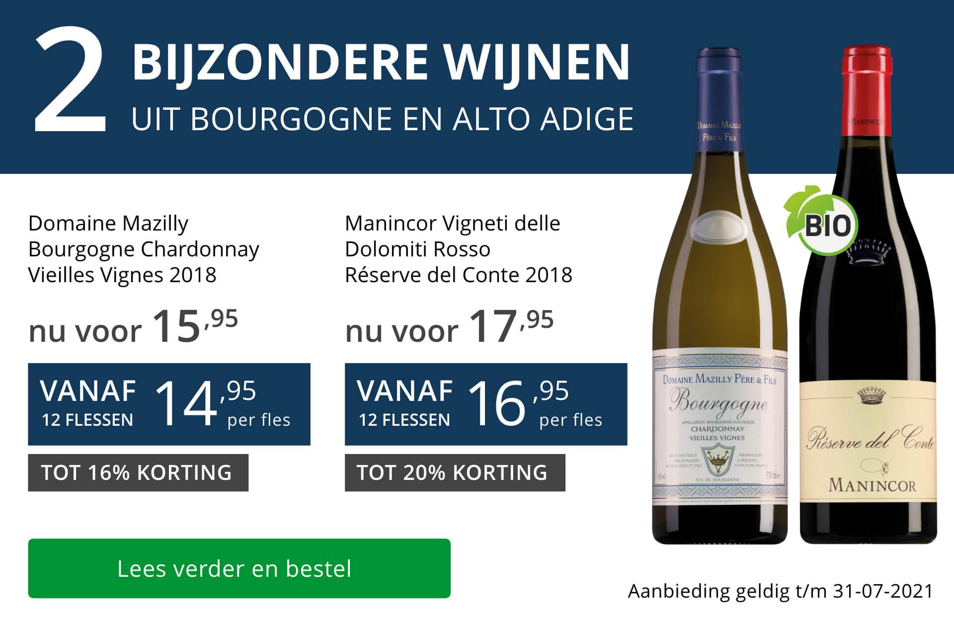 Twee bijzondere wijnen juli 2021 - blauw