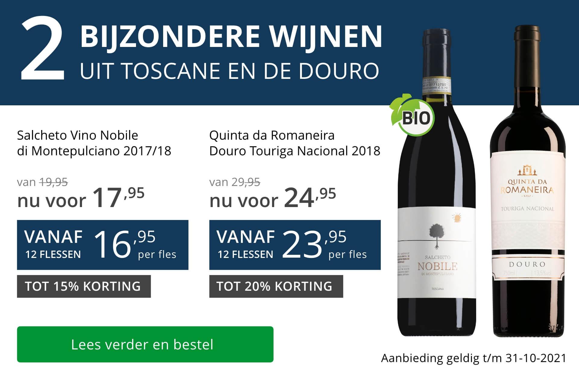 Twee bijzondere wijnen oktober 2021 - blauw